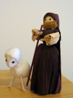 Corn Husk Shepherd and Pipe Cleaner Lamb