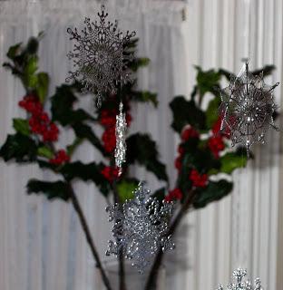 Silver Snow Flakes