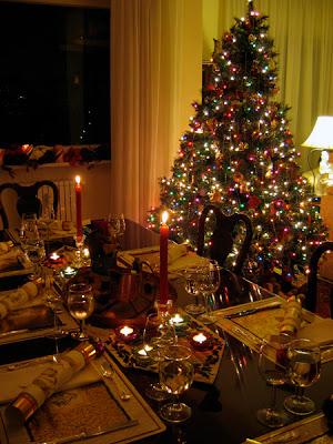 Christmas table and tree