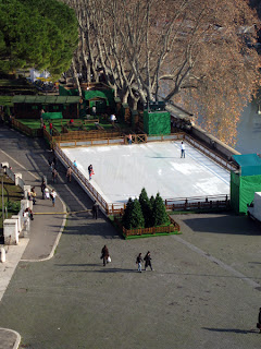Ice Skating Rink on the banks of the Tiber.