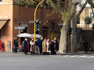 A religious confraturnity near San Giovanni in Laterna