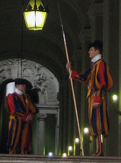 Swiss Guard doing their thing.