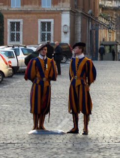 Swiss Guards doing their thing.