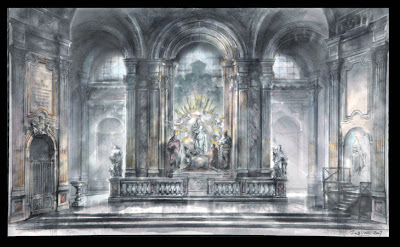 Act 1 Tosca - set design Franco Zeffirelli
