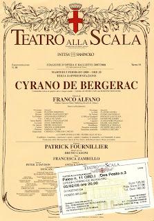 Playbill - Cyrano de Bergerac - La Scala