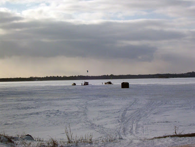 Ice Fishing and Parasailing on Lac Deschenes