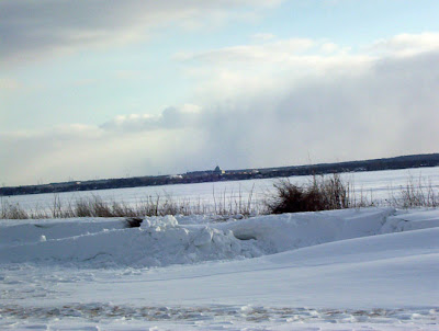 Kanata across the frozen Ottawa River