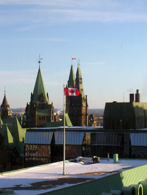 The Peace Tower and West Block