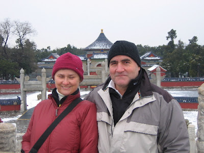 Anna and Luigi at the Temple of Heaven