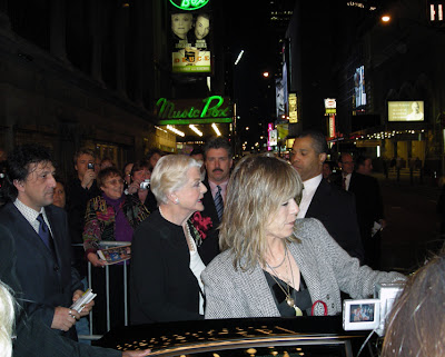 Angela Lansbury leaves the Music Box Theater