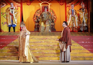 Marcello Giordani(Calaf), Giovanna Casolla (Turandot)photo by Corrado Maria Falsini