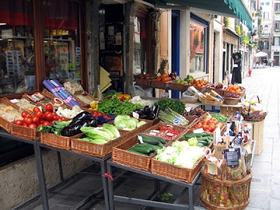 Green grocer in the street