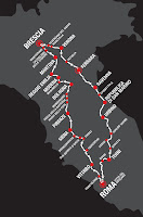 Mille Miglia Itinerary