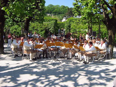 Sunday concert in Mirabel Gardens
