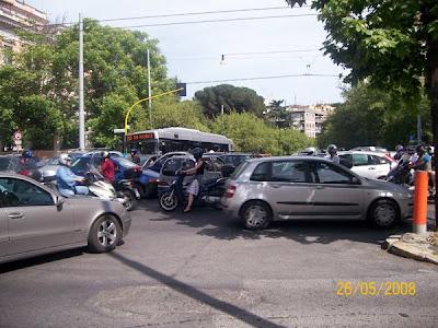 Nomentana traffic jam