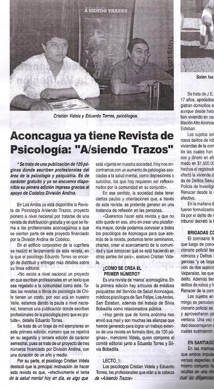 """""""A/SIENDO TRAZOS"""" La Revista especializada en Psicología y Psiquiatría"""