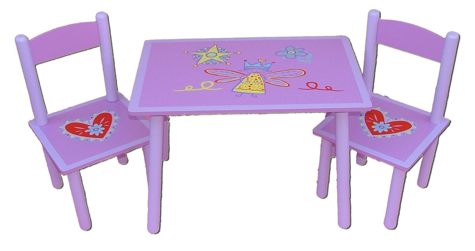 Purple Kids Table and Chairs