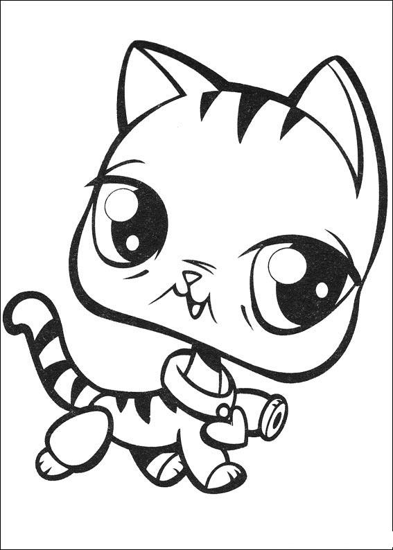 Little pets shop para colorear imagui for Little pet shop coloring page