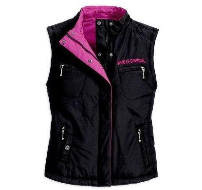 Harley Davidson Trendy Pink Reversible Casual Jacket