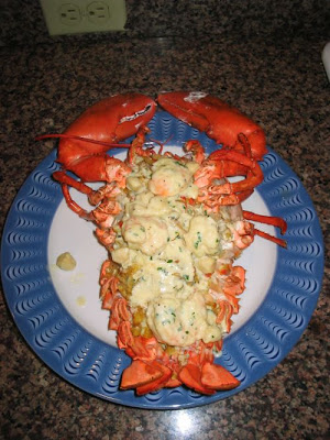 Tips-Recipes: Baked Stuffed Lobster with Thermidor Sauce