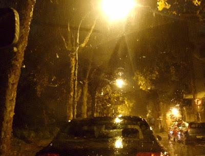 la lluvia en bcn