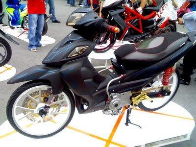 suzuki shogun 125 modification, tailand style