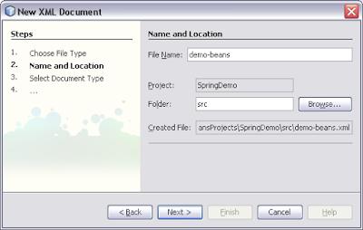spring xml file