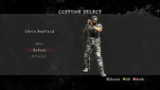 chris redfield resident evil 5 trajes