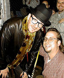 Elvis Costello with his biggest fan.