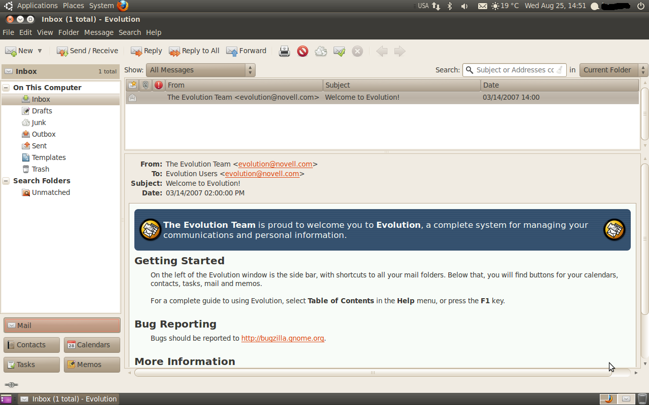 evolution mail for ubuntu