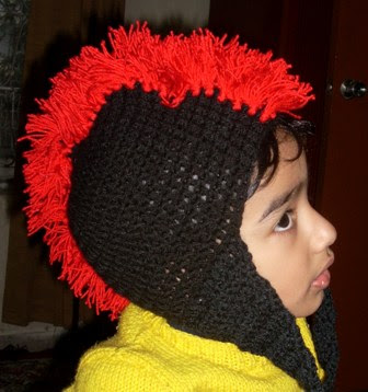 Free Knit Pattern For Scarf : ressimprdenit - Free pattern knit mohawk hat