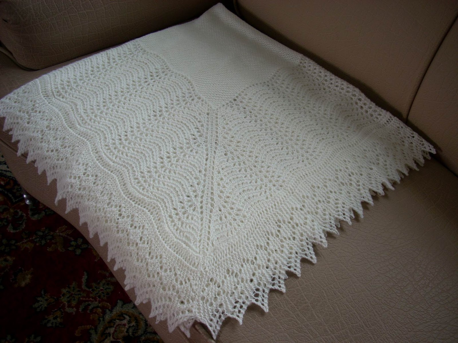 Machine Knitting Patterns Baby Shawl