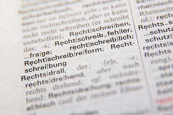 Rechtschreibreform im Wörterbuch © Cornelia Schaible