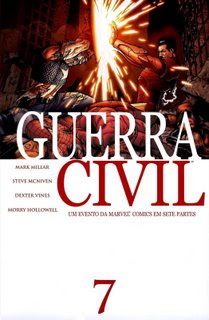 capa guerra civil marvel civil war 7