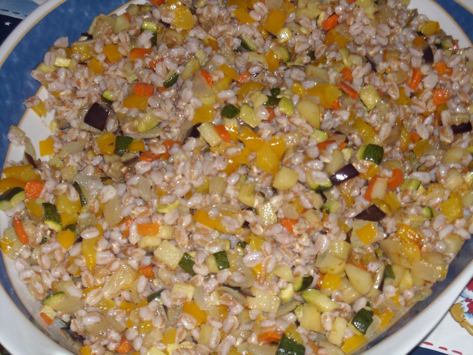 le ricette di lella e insalata di farro e verdure