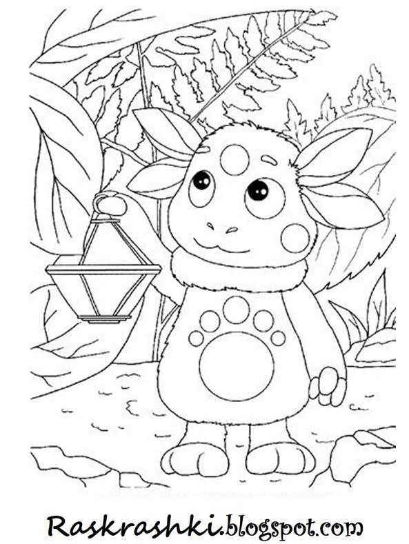 Раскраски для детей Лунтик - Раскрашки для детей