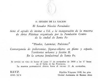 EL SENADO DE LA NACION RECIBE A ARTISTAS SANTAFESINOS
