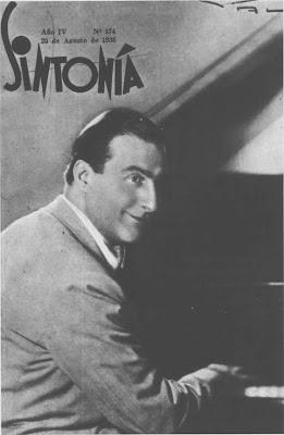 Enrique Deflino en la tapa de la revista Sintonia en 1936