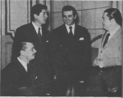 Carlos Figari, Raul Beron, Jorge Casal y Anibal Troilo