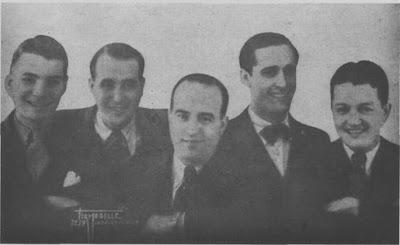 Carlos Figari(1º de izq. a der.) con el Conjunto Antonio Sureda