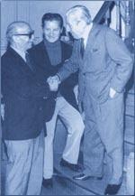 Ben Molar con Ernesto Sábato y Julio De Caro