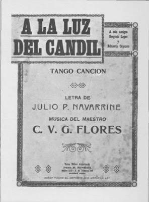 Partitura de A la luz del Candil de Flores Carlos V. G.