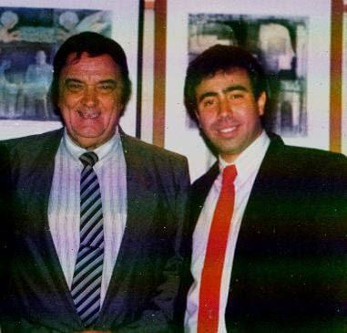 Armando Laborde con Raul Leonardo en 1992