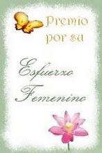 Premio esfuerzo femenino
