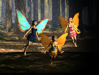 Trio of forest fairies in the spotlight