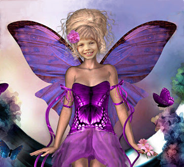 Beautiful Purple Fairy