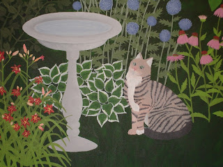 Cat painting - back and paws
