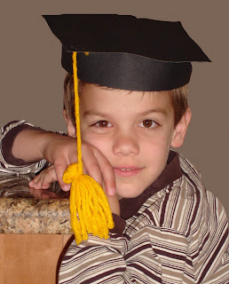 handsome kindergarten grad
