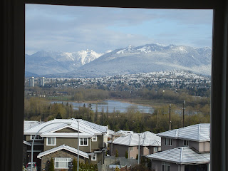 View to mountains from the front window