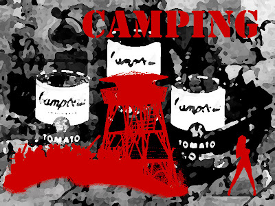 tomato campbel soup camping camp